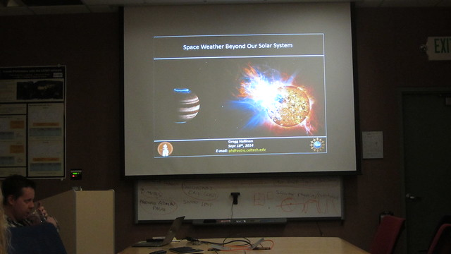IMG_5130 Gregg Hallinan LCOGT space weather presentation