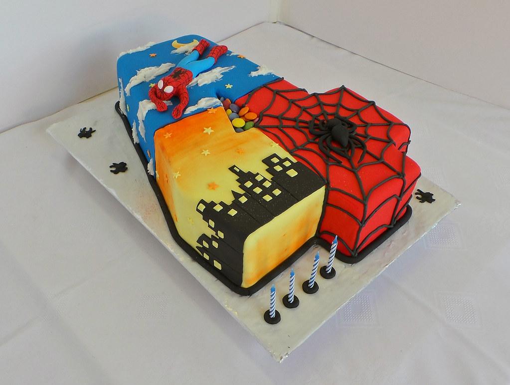 Pleasing Nr 4 Spiderman Themed Birthday Cake Design Was Brought In Flickr Funny Birthday Cards Online Alyptdamsfinfo