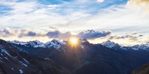 sunset mountain snow alps nature clouds river landscape austria hiking peak tyrol centralalps rifflsee watze zentralalpen ötztaleralpen watzespitze plangeros seekogel