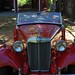 Red 1953 MG TD
