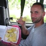 Sat, 12/15/2012 - 3:41pm - Rob eating his favorite fruit, durian