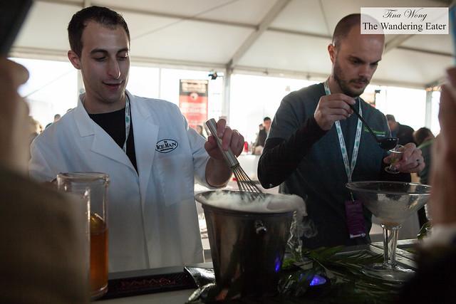 Mixing up a liquid nitrogen cocktail