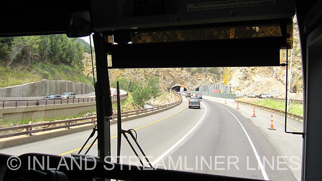 Greyhound through the Colorado Rockies (Interstate 70)