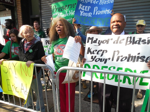 A proposed rezoning of Empire Boulevard in Brooklyn is also bringing the NIMBY's out for Mayor de Blasio, amid concerns about Inclusionary Zoning and higher-density driven gentrification | by gerard_flynn
