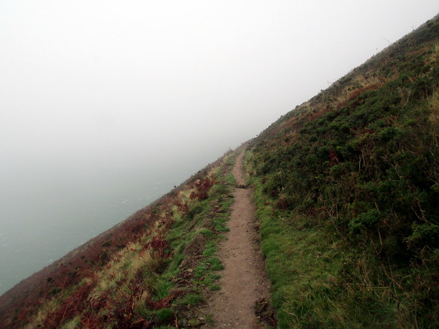 Heading into the fog on Butter Hill