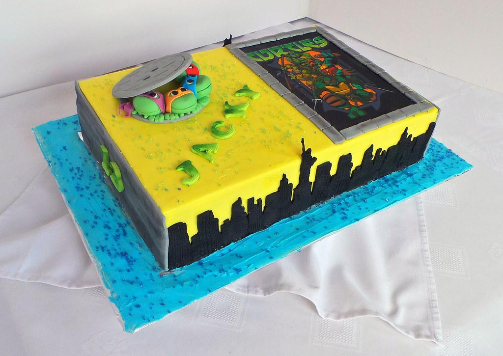 Ninja Turtles sheet birthday cake | Willi Probst Bakery | Flickr