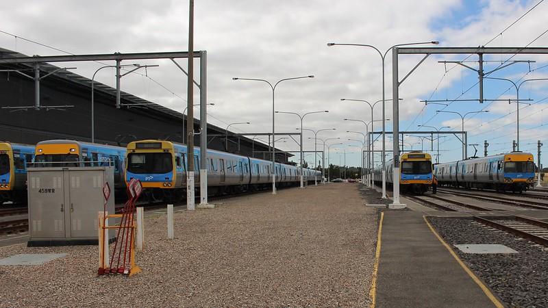 Comeng trains at Craigieburn TMF