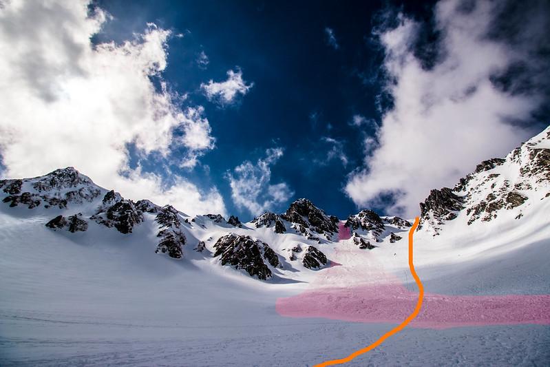 木曽駒ヶ岳の雪崩ポイント