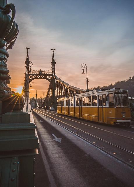 Sunset in Liberty bridge