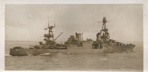 WWII, USS Chicago (CA-29), Northampton-Class Cruiser, Guadalcanal   by photolibrarian