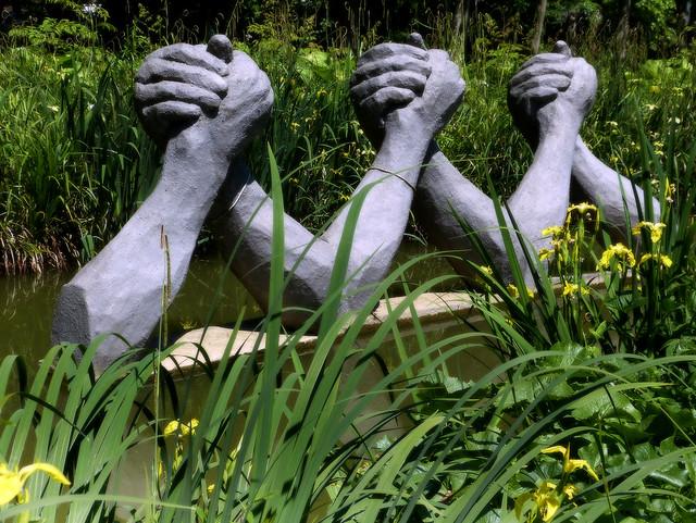 Sculpture, parc Caillebotte