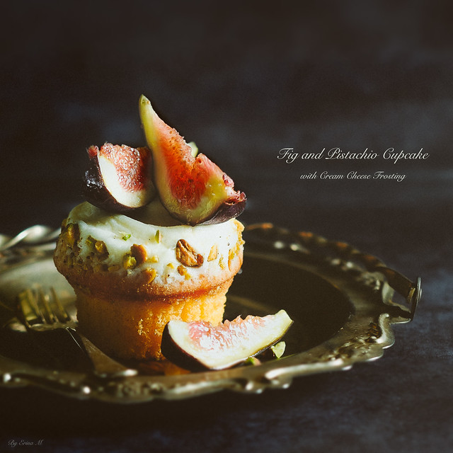 Fig and Pistachio Cupcake