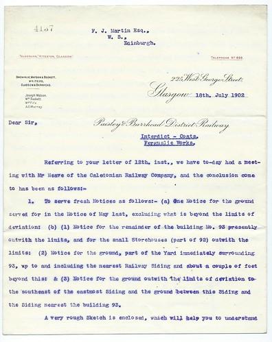 Paisley & Barrhead District Railway letterhead 1902   by ian.dinmore