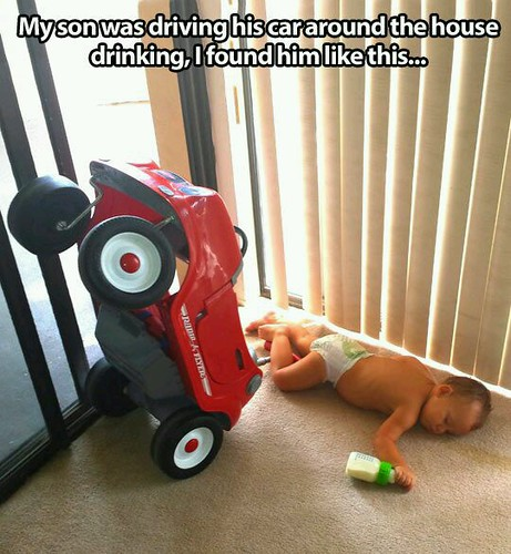#Funny #drunk #baby