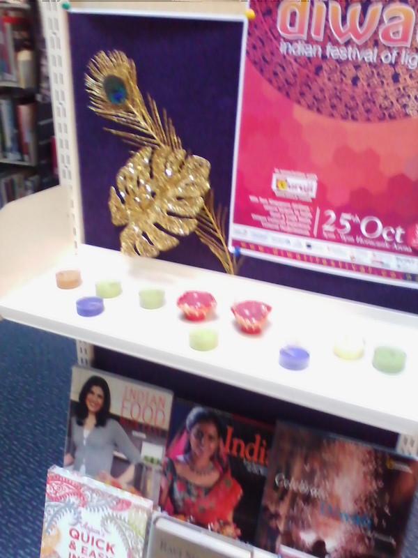 Diwali display at Hornby Library