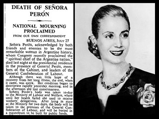 26th July 1952 - Death of Eva Peron | by Bradford Timeline