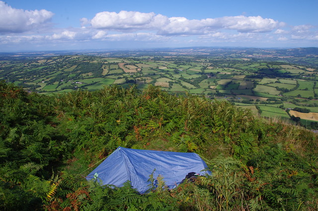 Wild camping on the English Welsh border
