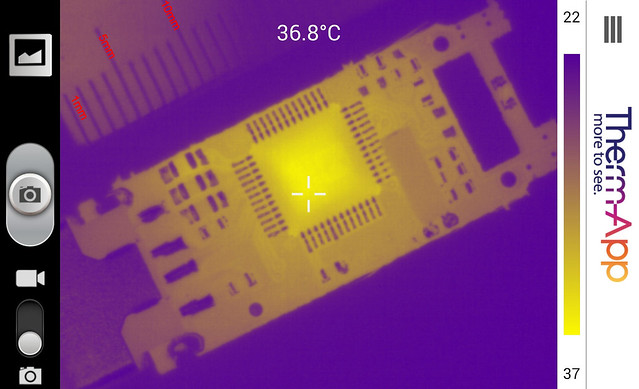 Thermal image inside memory stick