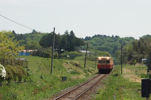 養老渓谷駅付近にて2014年5月撮影
