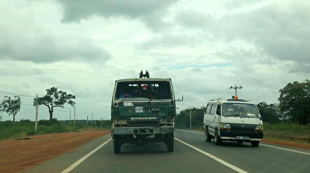 Jaffna-Vavuniya highway. Sri Lanka