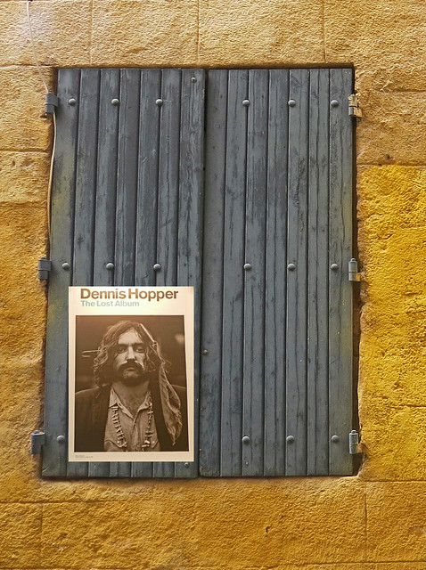 Shutter with poster