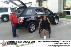 Dodge City McKinney Texas Chrysler Jeep Dodge Ram SRT Dallas Dealer Testimonials Customer Reviews -Sharlyn Brown