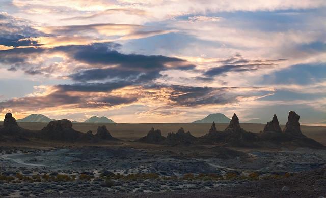 Sunrise at Trona Pinnacles