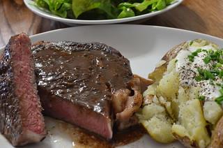 sous vide steak with pan sauce   by jeffreyw