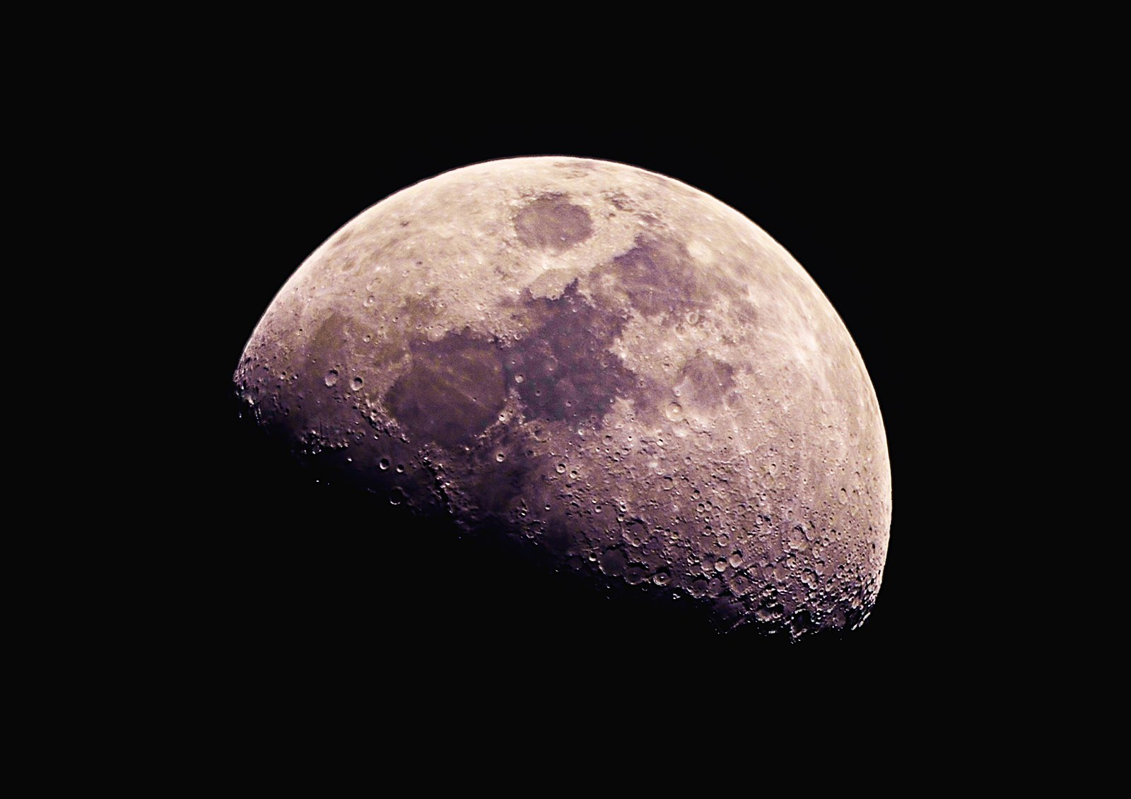 The Moon does have colour