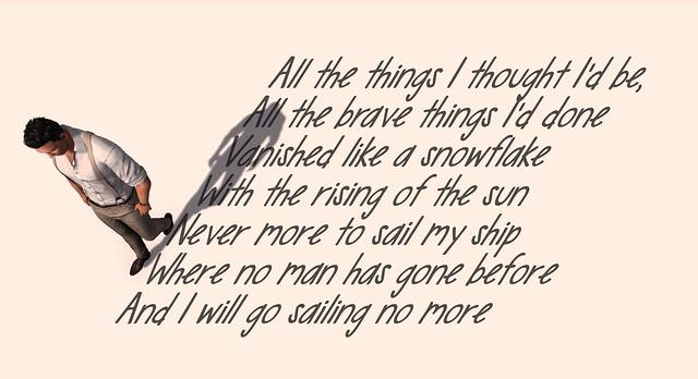 I Will Go Sailing No More
