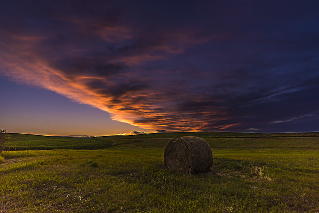 All Alone Under A Prairie Sunset
