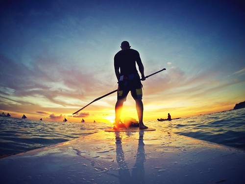 Saturday are for adventure.SUP to the magical sunset in Boracay Island, Philippines. What a magnificent view. Awesome weekend. #SUP #boracay #sunset #gopro #hero #weekend | by hairibaba