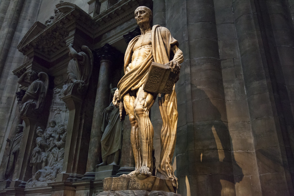 St Bartholomew statue | Milan Cathedral | Duomo di Milano