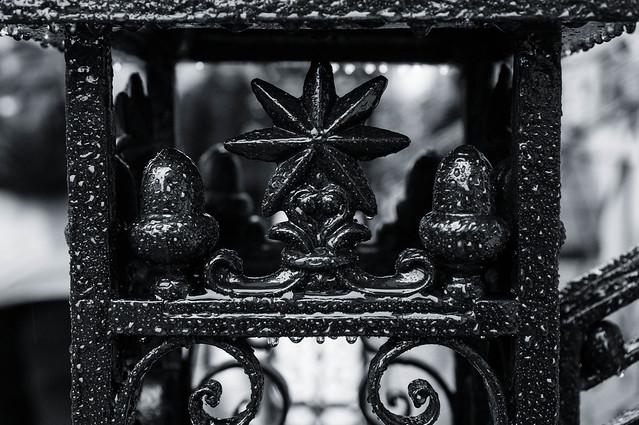 Wrought Iron Newel Post