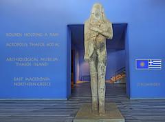 Macedonia, Thasos island, Archeological museum, kouros, 600 bc, Greece