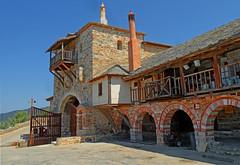 Greece, Macedonia,    Chalkidiki,  Dochiariou monastery