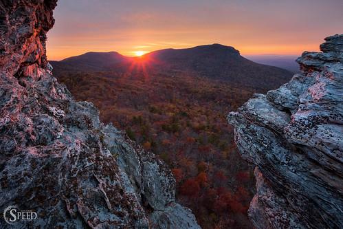 sunset fallcolor northcarolina hangingrockstatepark michaelspeed