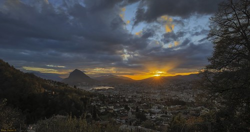 Autumn sunset, Lake Lugano | by excelsis999