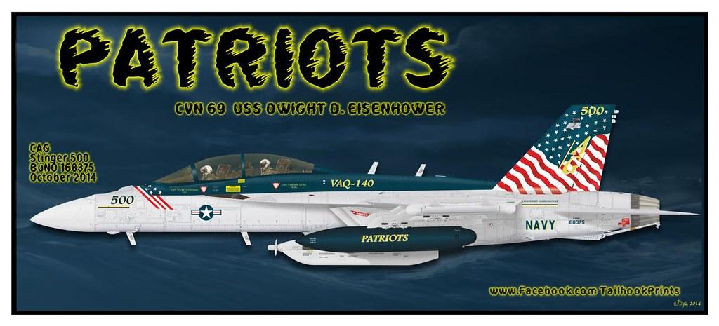 VAQ-140 500 | VAQ-140 PATRIOTS EA-18G GROWLER 168375 | Andrew
