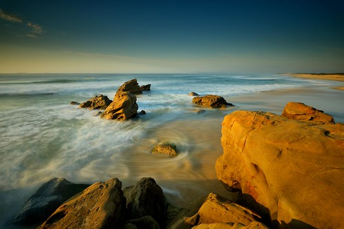 longexposure sunrise rocks australia redhead newsouthwales aus waterflow