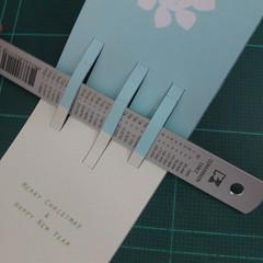 การทำการ์ดอวยพรลายต้นคริสต์มาสแบบป็อปอัป (Card Making Christmas Trees Pop-Up Card Template) 003