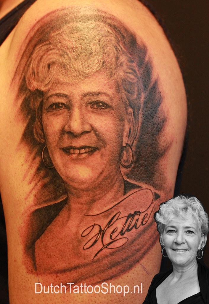 Portret Vrouw Arm Tattoo Dutch Tattoo Shop Flickr