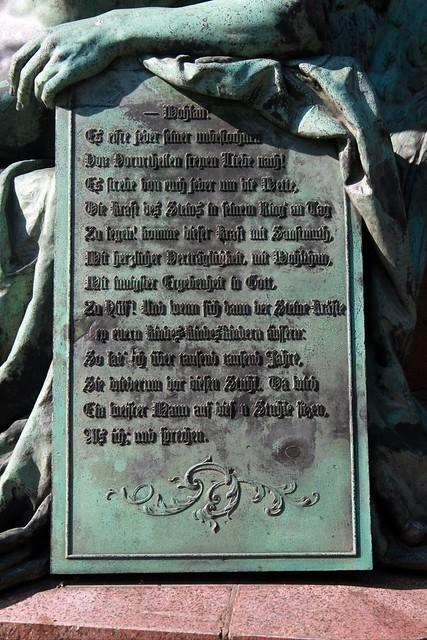 Das Lessing-Denkmal im Berliner Tiergarten