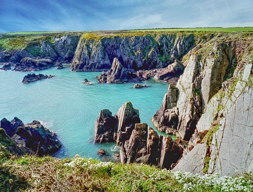 landscape rocks sea cliff coast coastal