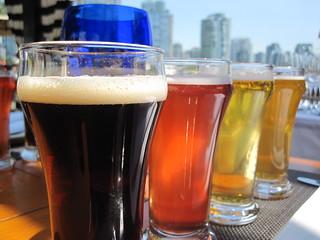 Flight of Beers, Vancouver, British Columbia, Canada | by www.traveljunction.com
