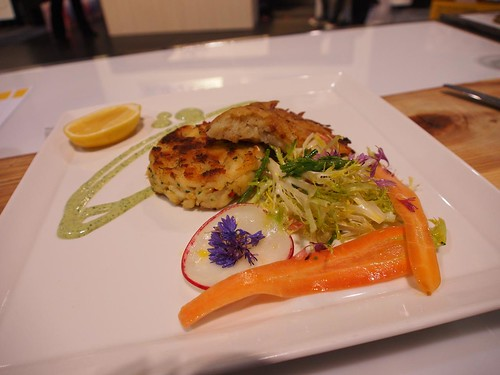 George Brown team cooked Herbed Ling Cod Cakes with Crisp Potato Rosti & Caper Remoulade | by LexnGer