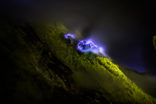Blue fire at Kawah Ijen