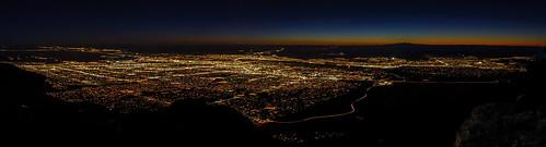 city sunset panorama newmexico night landscape lights cityscape dusk albuquerque nm sandiacrest grantcondit