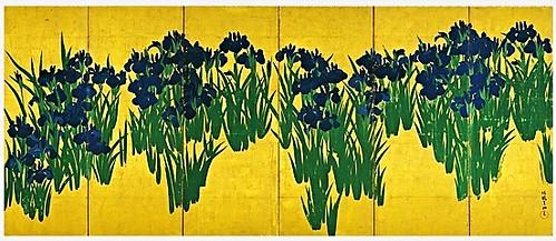 Ogata Korin (1658-1716) - 1701 Irises (Nezu Art Museum, Tokyo, Japan)
