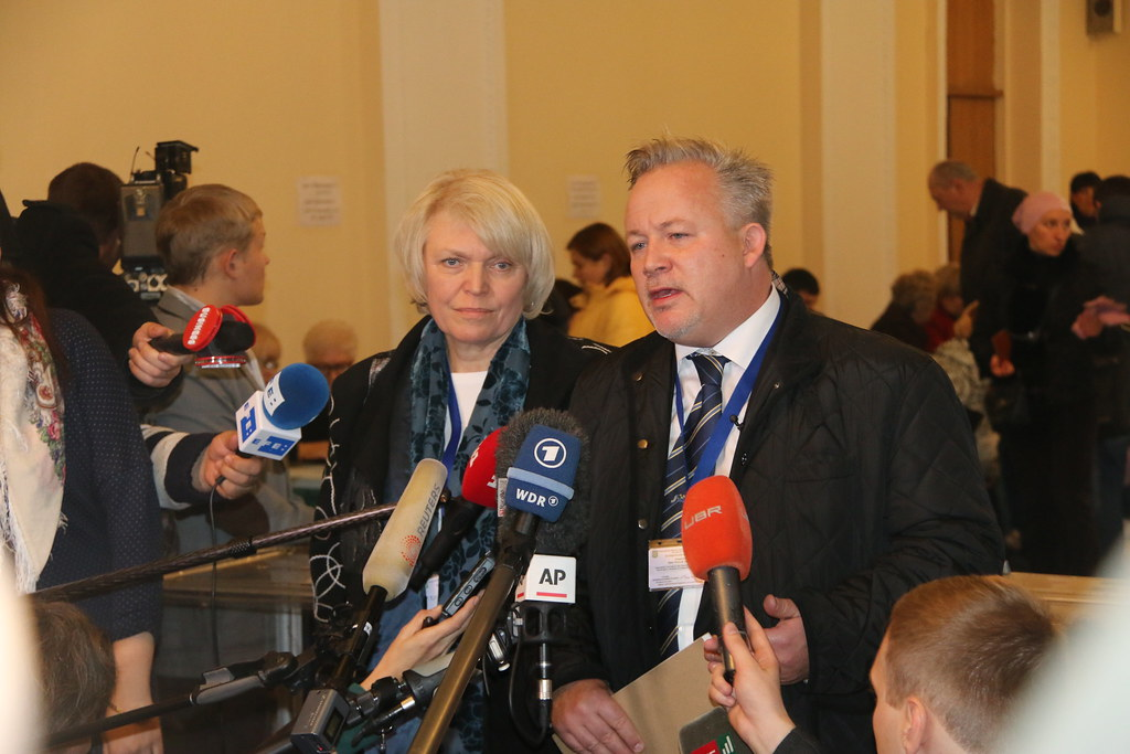 OSCE Special Coordinator Kent Harstedt (right) and OSCE PA…   Flickr